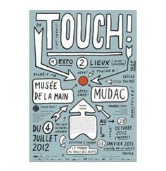 Touch !   Exhibition   mudac   04.07 - 28.10.2012 Mardi, Expo, Infographics, Bullet Journal, Posters, January 13, Information Graphics, Infographic, Postres