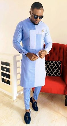 Sweet senator wears for men - DarlingNaija African Wear Styles For Men, African Shirts For Men, African Dresses Men, African Attire For Men, African Clothing For Men, Kaftan, Nigerian Men Fashion, African Men Fashion, Wedding Suit Styles