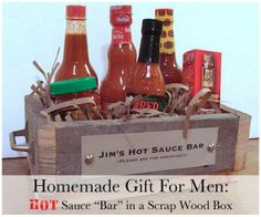 Gift hamper idea for the guys that love spice #Gifts #Hamper