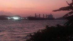 Sunset on pan canal (diablo)