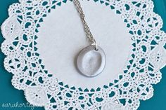 Fingerprint necklaces - I'm thinking Mother's Day kids' craft for school!