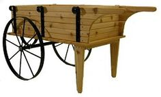 Mini Flower Cart - Red Cedar