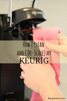 How to clean a Keurig coffee maker Diy Cleaning Products, Cleaning Solutions, Cleaning Hacks, Cleaning Supplies, Household Cleaning Tips, House Cleaning Tips, Deep Cleaning, Cleaning A Kurig, Keurig Cleaning