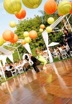 Perfect dance spot for an outdoor wedding