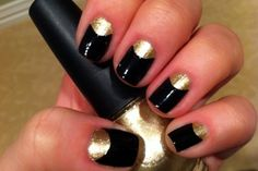 black and gold reverse french