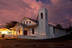#Lelu Church At Dusk - Kosrae,...Where I was baptized as a baby :)