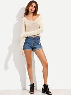 Shop Apricot Long Sleeve High-low Knitted T-shirt online. SheIn offers Apricot Long Sleeve High-low Knitted T-shirt & more to fit your fashionable needs.