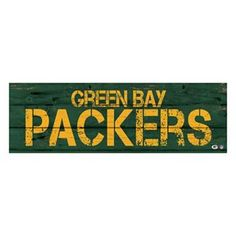 Green Bay Packers Rustic Canvas Wall Art
