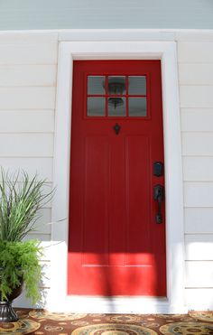 Front door hardware and porch jewelry at the #fliphouse. @schlagelocks @modernmasters @rustoleum