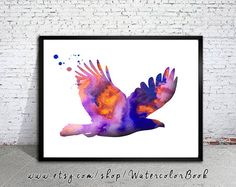 Eagle Watercolor Print Eagle art Home Decor by WatercolorBook Watercolor Animals, Watercolor Print, Watercolor Illustration, Watercolor Paintings, Eagle Artwork, Eagle Print, Fine Art Prints, Canvas Prints, Bird Art
