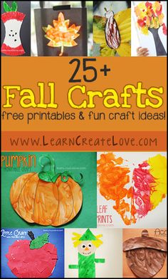 25+ Fun Fall Crafts! Printable crafts and regular! | LearnCreateLove.com