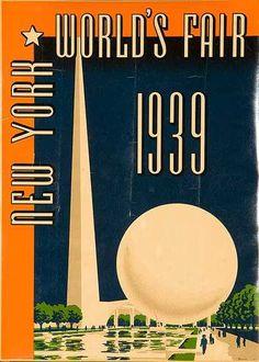 DP Vintage Posters - Original 1939 New York World' Fair Poster Decal