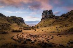 The Fairy Glen above Uig Harbour, Isle of Skye