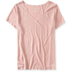 Aeropostale Oversized Slub-Knit V-Neck Tee ($3.99) ❤ liked on Polyvore featuring tops, t-shirts, shirts, alice fabray, tops/outerwear, misty rose, pink t shirt, oversized pink t shirt, knit shirt and tee-shirt