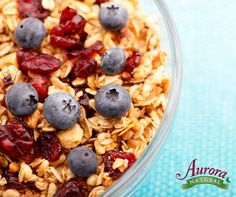 Have a bowl of Cranberry Vanilla Granola (now GMO-Free), low-fat milk and almonds before you hit the gym this morning. This protein-packed breakfast will help give you the energy you need to kick start the day.