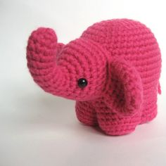 Very cute crochet pattern for amigurumi elephant. Only $3! | omfg i need to remember how to crochet