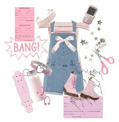 """""""pink punk"""" by sighsaturn ❤ liked on Polyvore featuring Rare London, Dorothy Perkins, Forever 21, Kate Spade, Dr. Martens, Pink, Punk and velvet"""