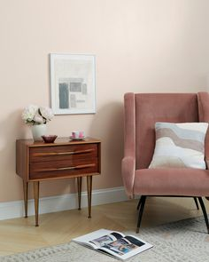 Baby Soft is a classic light pink paint color that's soft and sweet. Shop now. Light Pink Paint, Purple Paint Colors, Interior Paint Colors, Interior Exterior, Interior Walls, Interior Design, Home Living, Living Room, Painting Trim