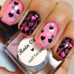 valentine by reireishnailart #nail #nails #nailart | See more at http://www.nailsss.com/colorful-nail-designs/3/