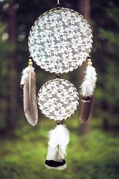 Large Boho dream catcher, Wall hanging dreamcatcher, Large White dream catcher…