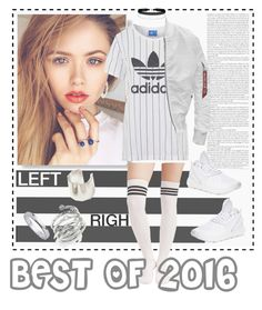 """White♥"" by syoungju ❤ liked on Polyvore featuring Michael Kors, Palm Beach Jewelry, adidas, Topshop and Miss Selfridge"
