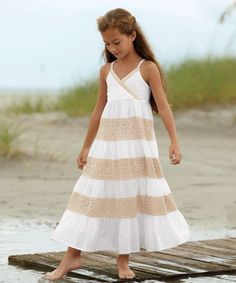 cotton & lace girls dress