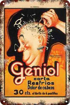 Cartel retro vintage 30 x