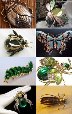 """""""Pardon me, ma'am. Is that brooch bugging you???"""" Curated by AntiquesAndArtifacts  @ http://www.etsy.com/shop/AntiquesAndArtifacts  Featuring my Gorgeous Fair Trade """"Beetle/Scarab"""" Focal Bead White Metal Repousse Brass Dots Nepalese Tribal @  https://www.etsy.com/listing/124716980/gorgeous-fair-trade-beetlescarab-focal?ref=tre-2724023132-1"""
