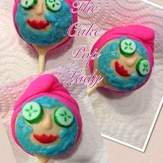 My first Spa Girl cake pops, inspired by many great cake poppers! Kids Spa Party, Spa Birthday Parties, Pamper Party, Spa Party Cakes, Spa Cake, Spa Cookies, Cake Cookies, Cupcakes, Cupcake Cakes