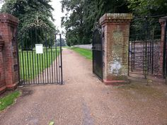 Iron Gate at Sandringham Norfolk. (Queens Home)