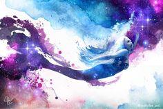 "Holly Fae Art (@hollyfae_art) on Instagram: ""This is a fanart I made of the lovely @mermaidkariel 💜 galaxy watercolor mermaid art www.beafairytale.etsy.com Watercolor Mermaid, Watercolor Galaxy, Mermaid Art, Real Life Mermaids, Fantasy Portraits, Creative Inspiration, Event Planning, Fairy Tales, Fan Art"