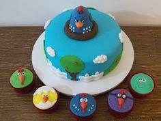 A galinha e pintadinha - bolo e cupcakes