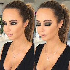 "Melissa Sassine on Instagram: ""MILITARY SMKEY EYE (currently My FAV ) #melissasassine #makeupvideoss to follow #melissasassinecosmetics #hudabeauty #wakeupandmakeup #militarygreen #khaki #khakistyles"""