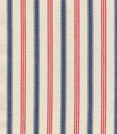 Vermont Stripe by Olicana. A great narrow stripe in red and blue woven on a cream cloth. Fabric Paper, Red Fabric, Red Pattern, Pattern Design, Stripe Pattern, Stripes Design, Red Stripes, Textures Patterns, Fabric Patterns