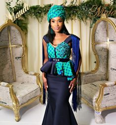 2020 African Traditional Dresses For Wedding Occasion Zulu Traditional Wedding Dresses, South African Traditional Dresses, Traditional Outfits, African Wedding Attire, African Attire, African Dress, African Weddings, Latest African Fashion Dresses, African Print Fashion