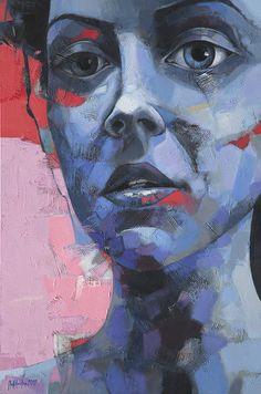 "sorin dumitrescu mihaesti; Acrylic, Painting ""Portrait"""