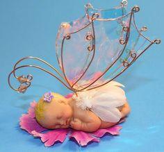 OOAK Polymer Clay Fairy Doll Babies Purple Flower | eBay