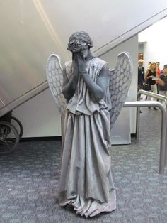 Weeping Angel. Costume! Imagine all of the frightened passerby, this would be sooo fun