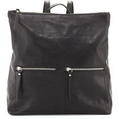 Neiman Marcus Made in Italy Slouchy Tumbled Italian Leather Backpack ($215) ❤ liked on Polyvore