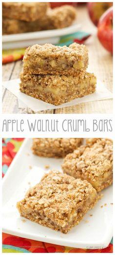 Apple Walnut Crumb Bars | From: sweetpeaskitchen.com