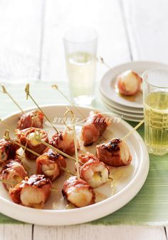 BBQ lychees wrapped in prosciutto  Prep 20 mins   Cook 3 mins   Makes 12