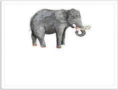 Sanatçı fil Kendin Tasarla - Davetiye