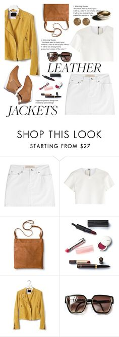 """""""Cool-Style Girl : Leather Jackets"""" by nadia-gadelmawla ❤ liked on Polyvore featuring Marc by Marc Jacobs, Neil Barrett, Merona, Christian Dior, Banana Republic, Garance Doré and Balmain"""