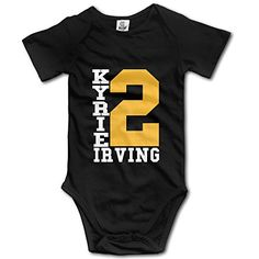 CYSKA Kyrie Irving Short Sleeve Romper Tank Tops For 6-24 Months Infant Size 18 Months Black * Details can be found at