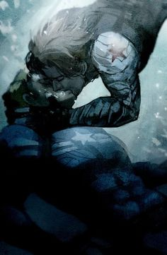 Captain America and his winter soldier