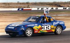 Car 102 - 25th race car - 1990 Mazda Miata - Texas World Speedway 2-15-92 - Third of 11 victories in SCCA National competition in 1992. This was my most satisfying win. Spun in turn one on the first lap by Randy Pobst I had to work my way from last to first on a course I had never driver before.