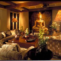 11 Inspiring Asian Living Rooms | Wall accents, Asian decor and Plants