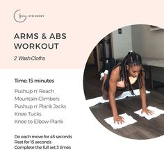 Ariel Belgrave | Health & Fitness Coach & Under Armour Athlete (@gymhooky)  Click image for a video of each exercise. Arms And Abs, I Got You, Washing Clothes, Ariel, At Home Workouts, Push Up, Armour, Exercises