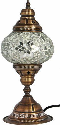 Genial 14 CM WHITE SMALL STAR TURKISH MOSAIC TABLE TOP LAMP LIGHT | Leylau0027s  Lanterns $35.00 +