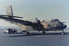 1960 De Havilland Canada C-7A Caribou 60-3767 Concord Airport in California. 1980's
